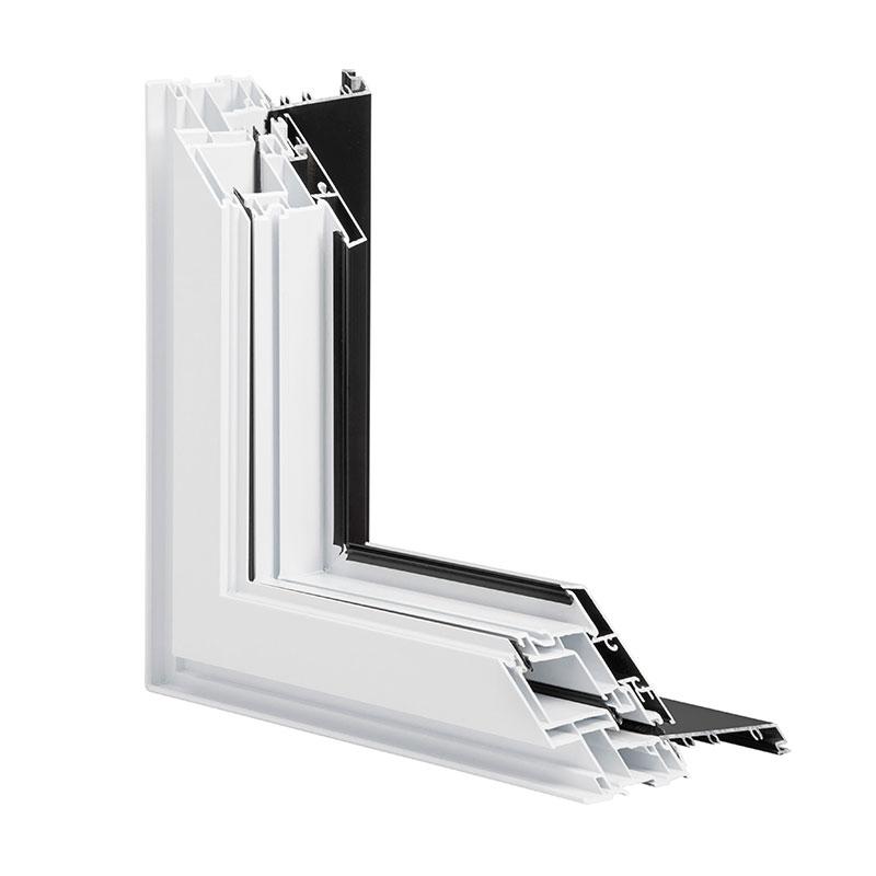 Fenêtre Battant et Auvent hybride, Combo Aluminium PVC