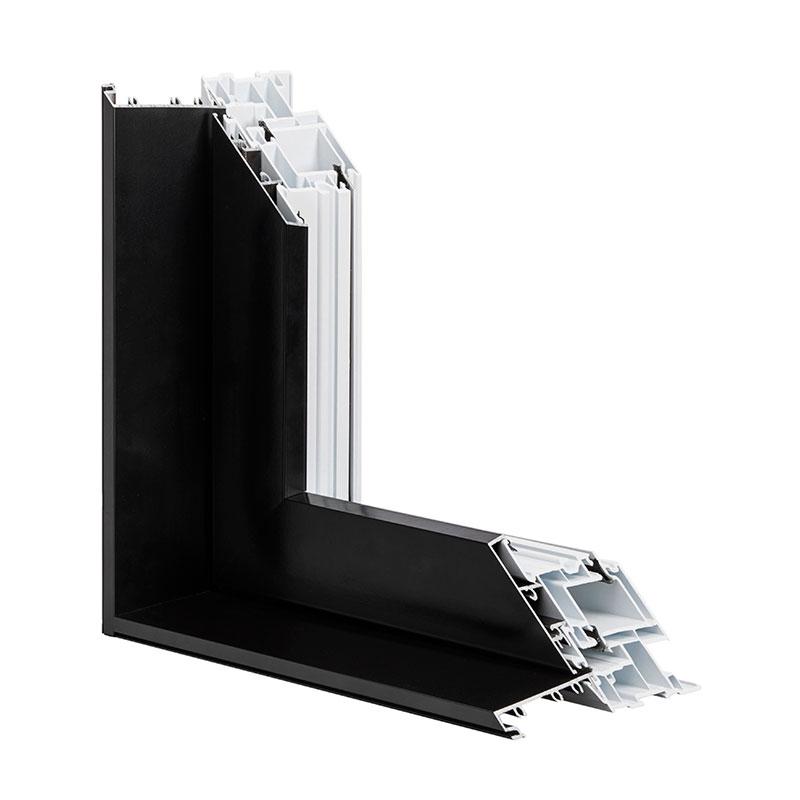 Fenêtre hybride battant et auvent, combo aluminium PVC