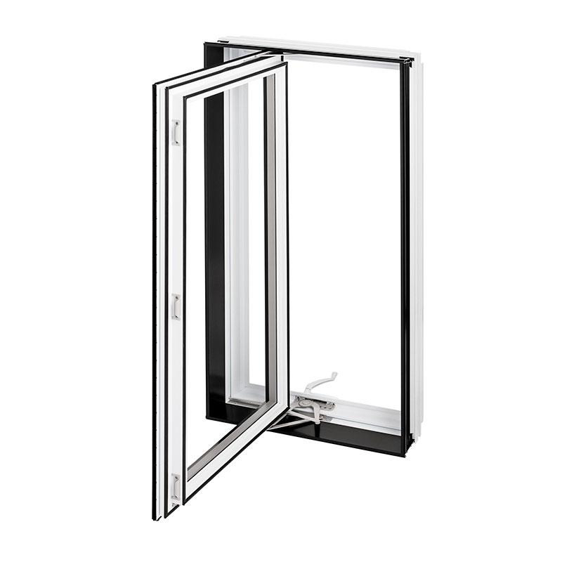 Fenêtre hybride Battant Auvent Combo Aluminium et PVC