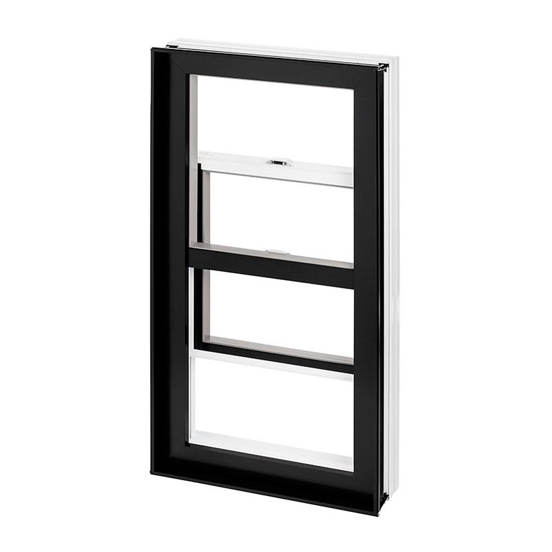 fenêtre guillotine hybride, simple combo aluminium PVC