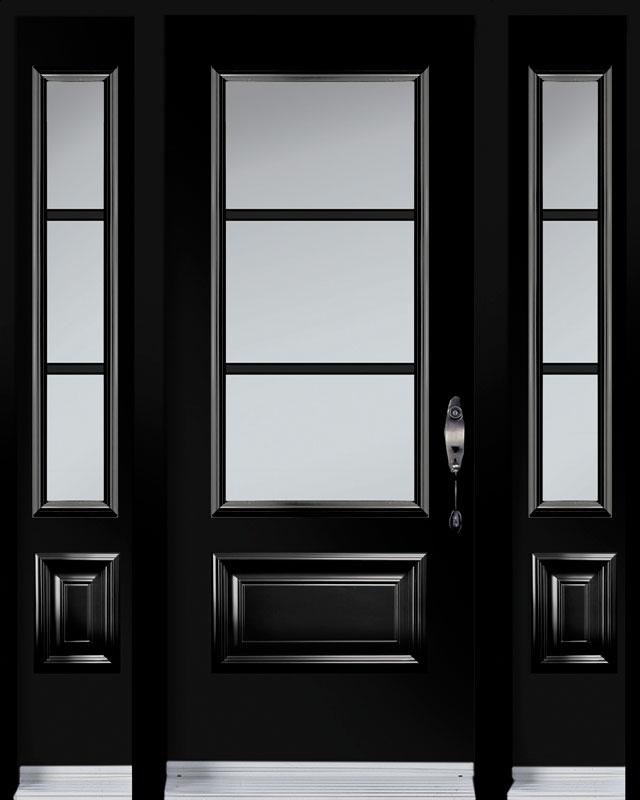 Portes d'acier noire