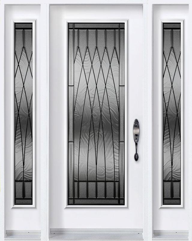Portes d'acier Novatech blanche gloria avec vitre