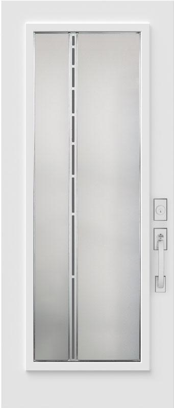 Portes d'acier avec fenêtre blanche