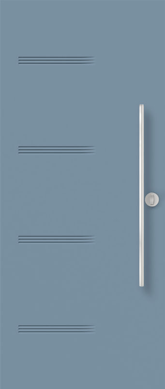 Portes d'acier bleue