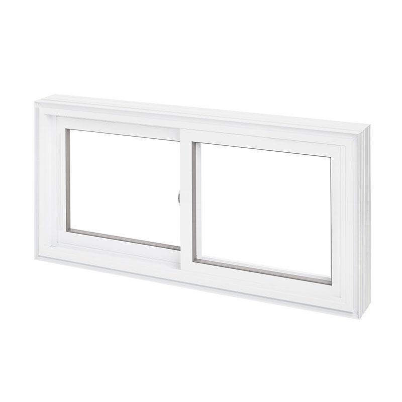 fenêtre coulissante en PVC, double épaisseur