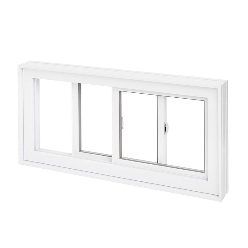 Fenêtre coulissante en PVC, double ouverture