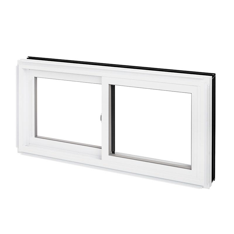 Fenêtre coulissante hybride, double combo aluminium PVC