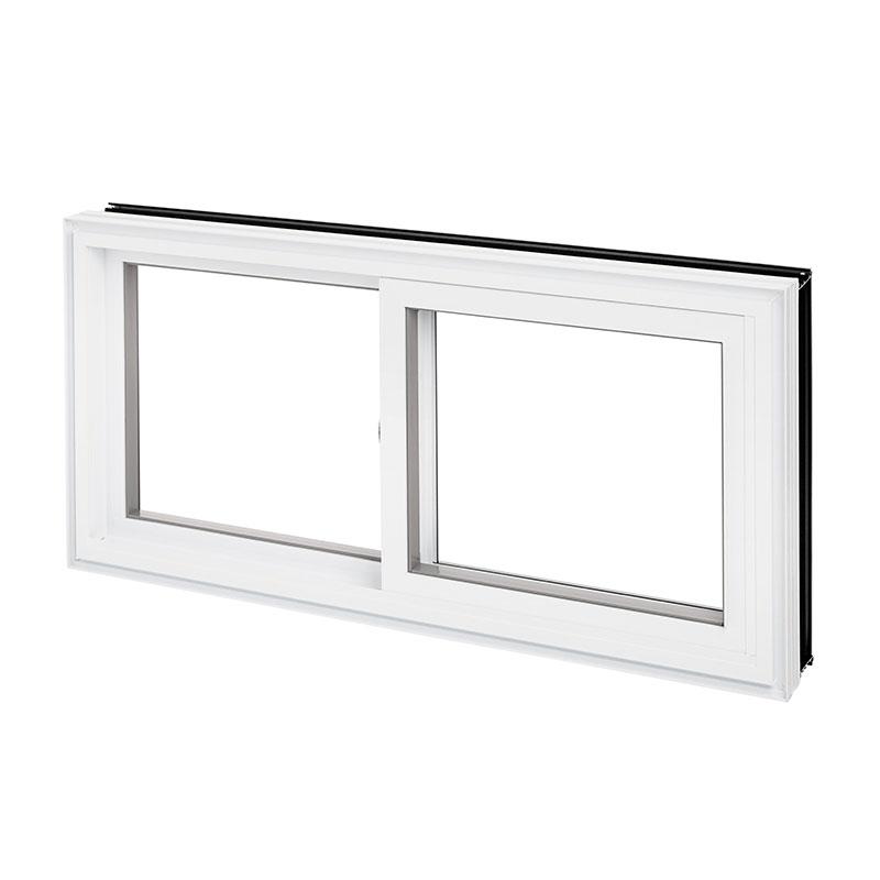 Fenêtre coulissante hybride, simple combo aluminium PVC