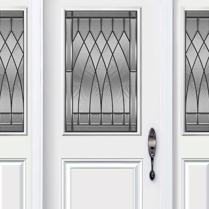 Porte d'acier classique de couleur blanche